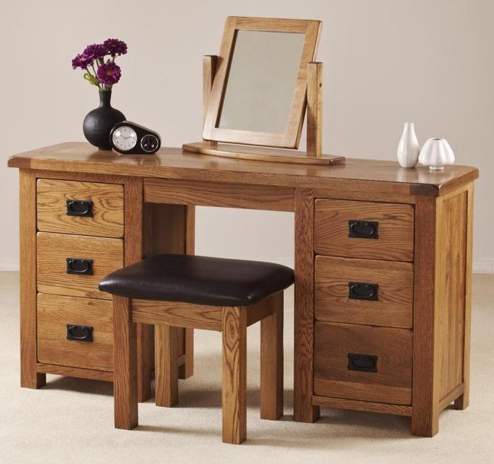 about delaware solid oak furniture large bedroom dressing table