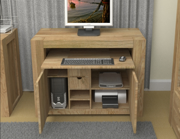 Hideaway computer desk cabinet for Hideaway home office