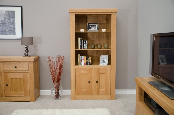 Houston solid oak furniture living room office cupboard for Living room designs with oak furniture
