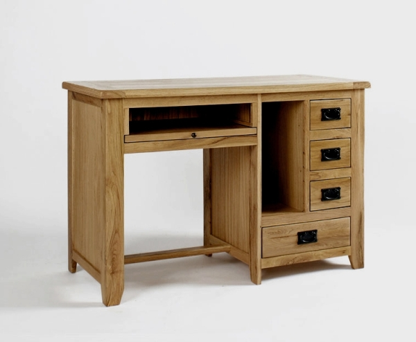 about Newbury solid oak furniture small office PC computer desk