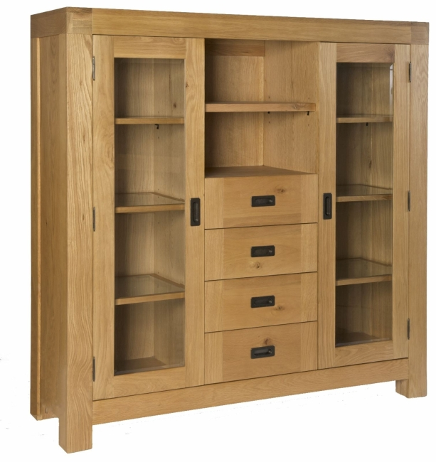 hampshire solid oak dining room furniture large display cabinet ebay