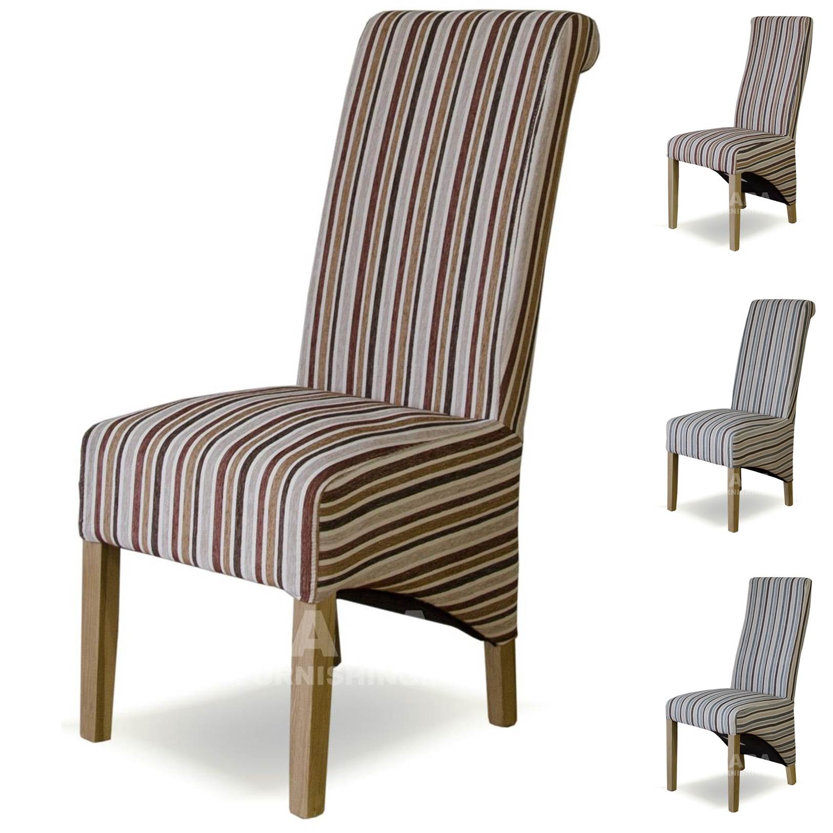 Plum striped dining chairs home decor for Striped upholstered dining chairs