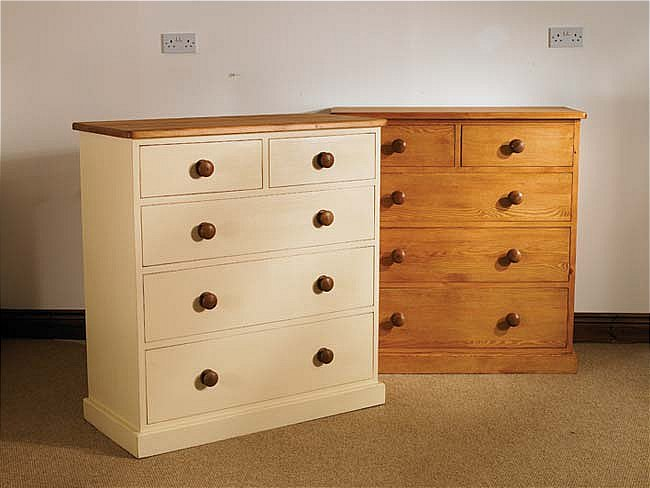 hampton cream painted pine furniture 2 over 3 chest of drawers