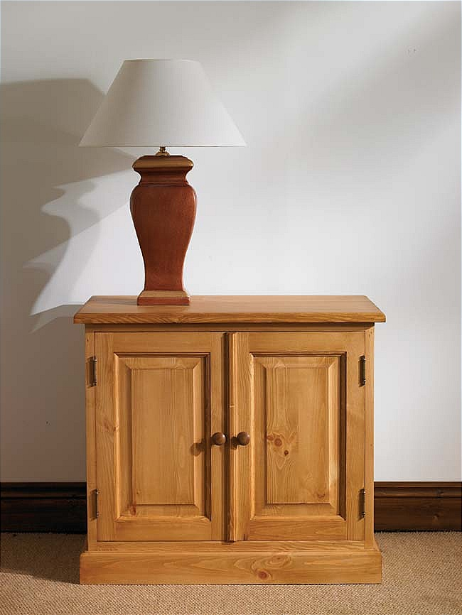 details about hampton waxed pine furniture small storage cupboard