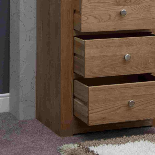 Mardale Solid Oak Bedroom Furniture Narrow Wellington