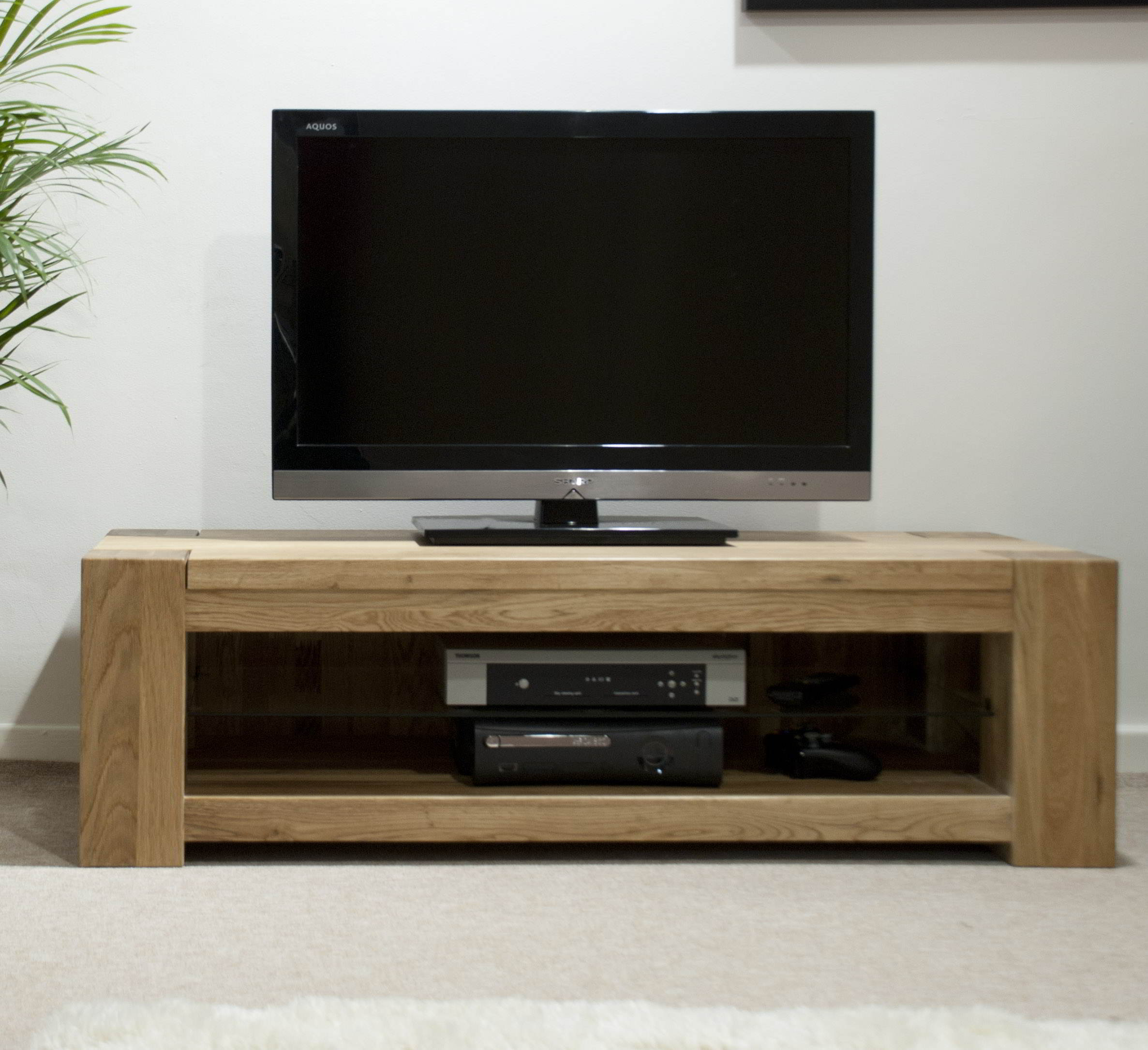 Padova solid oak furniture plasma television cabinet stand for White plasma tv stands