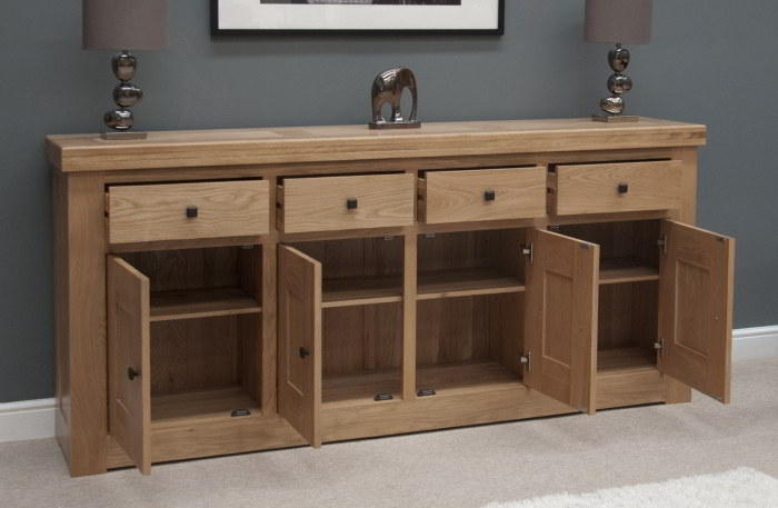 Houston Solid Oak Furniture 4 Door 4 Drawer Extra Large