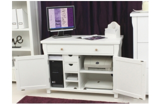 Hampton New England Style White Painted Furniture Low