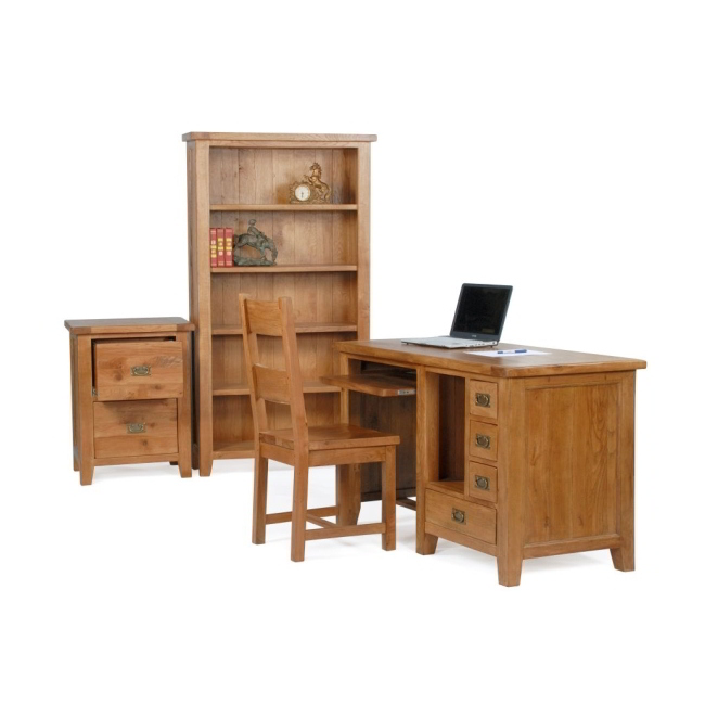 Florence Solid Rustic Oak Office Furniture Traditional Computer Pc Desk Ebay