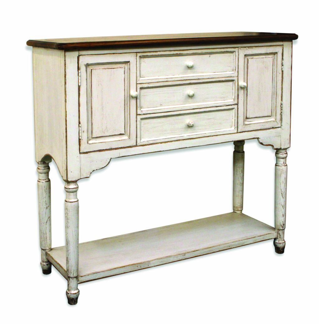 Bordeaux painted pine and elm furniture buffet sideboard for Painted buffet sideboard