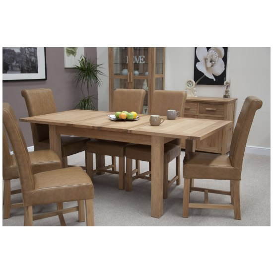 Nero solid oak furniture dining table and 6 leather chairs  : 45972 from www.ebay.co.uk size 550 x 550 jpeg 49kB