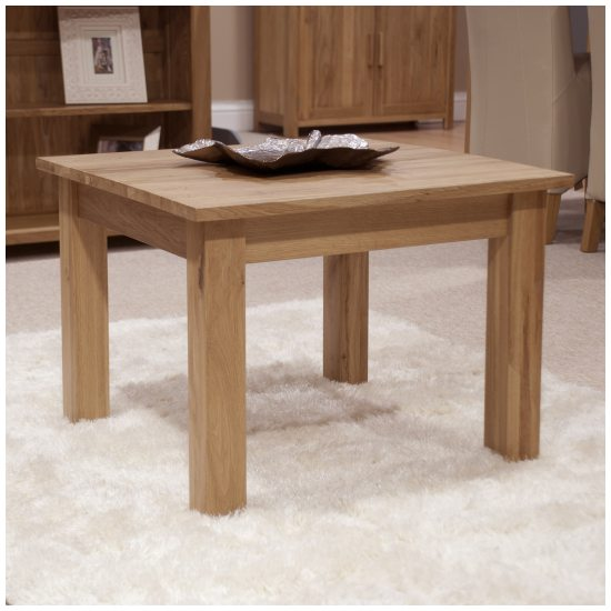 nero solid oak furniture small square coffee table with felt pads. Black Bedroom Furniture Sets. Home Design Ideas