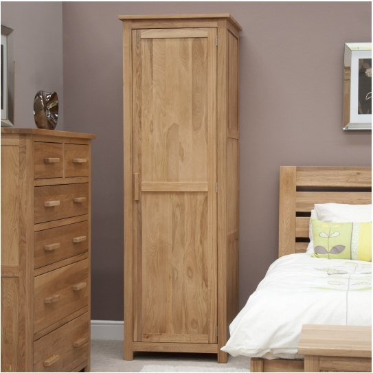 about nero solid oak bedroom furniture single wardrobe with felt pads