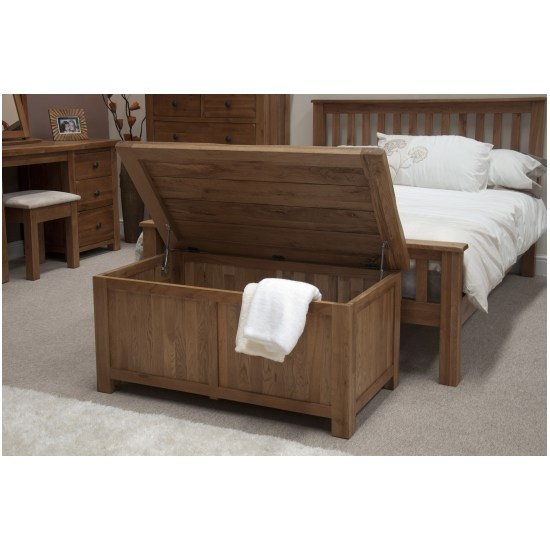 solid oak bedroom furniture blanket storage box chest trunk ebay