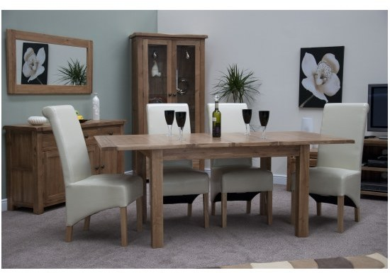 Living Upholstery Tuscano Panelled Extension Dining Table Tuscano