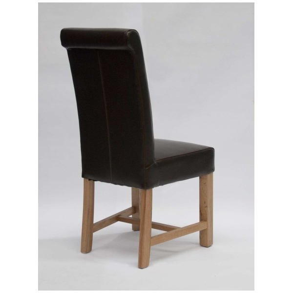 Loire solid oak furniture set of two brown leather dining  : 47664 from www.ebay.co.uk size 600 x 600 jpeg 104kB