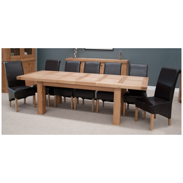 Phoenix Solid Oak Furniture Large Grand Extending Dining