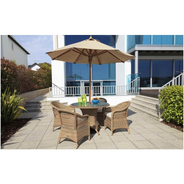 Emerald Rattan Patio Outdoor Garden Dining Table And Chairs Furniture Set Ebay