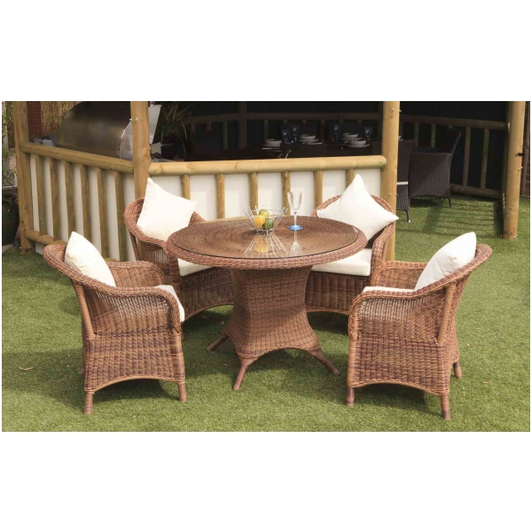 Emerald All Weather Rattan Patio Garden Dining Table And Chairs Furniture Set Ebay