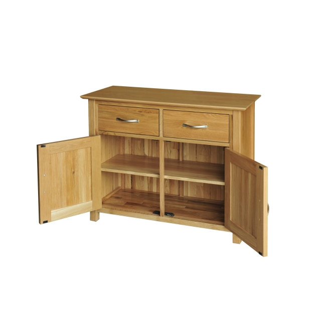 Canberra Solid Oak Furniture Small Living Dining Room