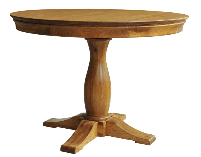 Marseille solid oak dining room furniture round circular dining table