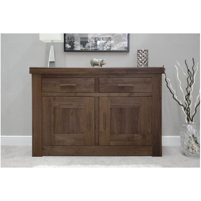 Fama Solid Dark Wood Walnut Living Dining Room Furniture Small Sideboard Ebay