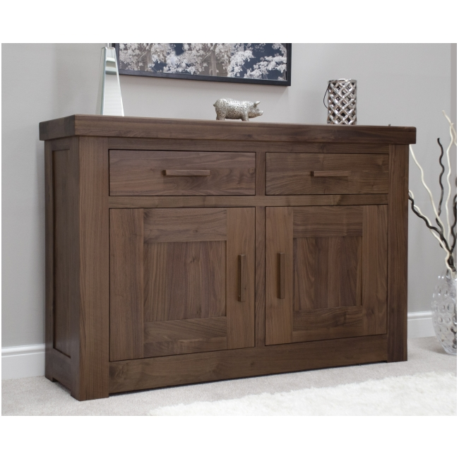 Fama Solid Dark Wood Walnut Living Dining Room Furniture Small Sideboard