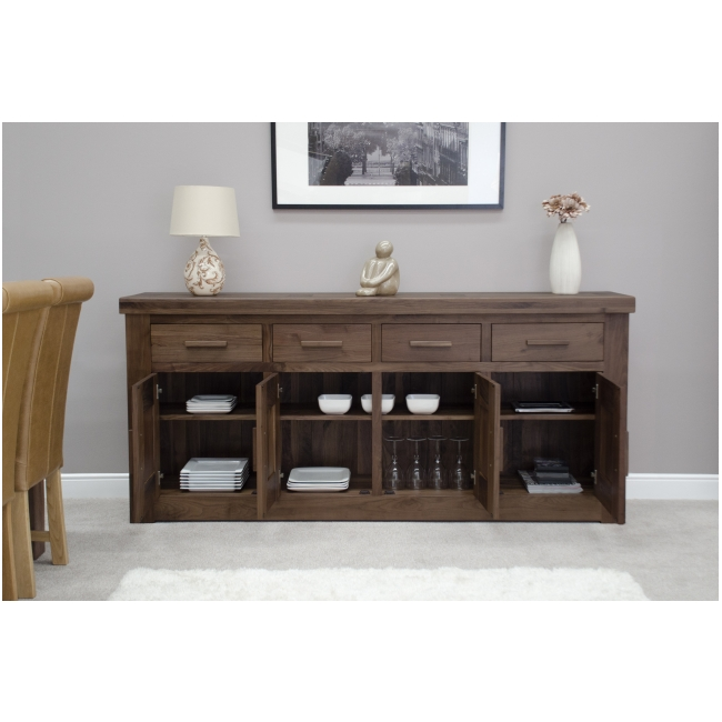 Fama solid walnut living dining room furniture extra large grand