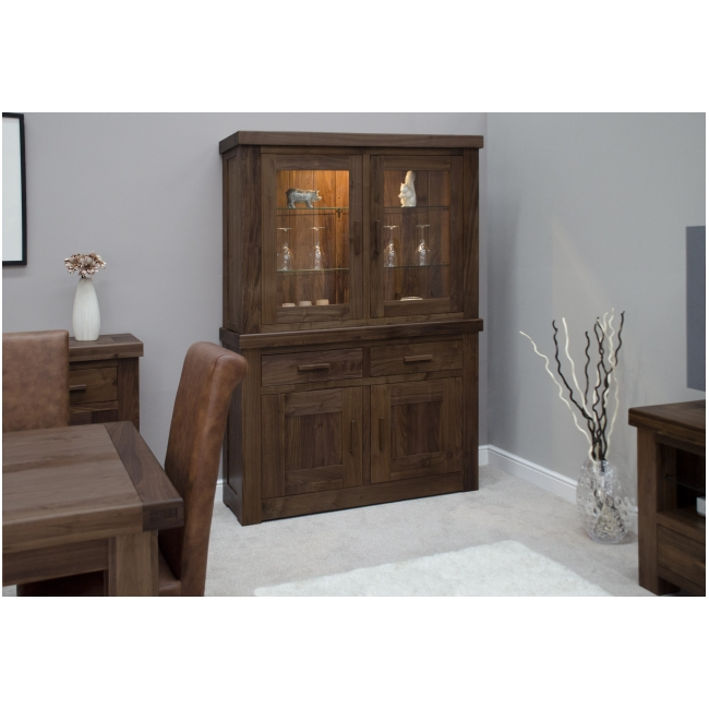 dark wood walnut furniture dining room dresser display cabinet ebay