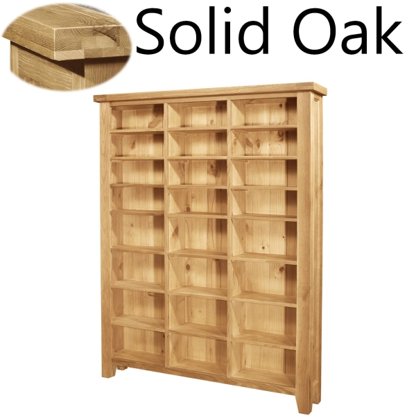 Lyon Solid Oak Furniture Large CD DVD Media Storage