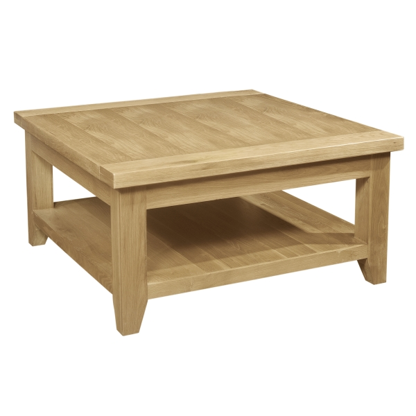 Lyon Solid Oak Furniture Living Room Lounge Square Coffee Table Ebay