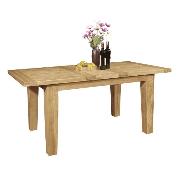 lyon solid oak furniture dining room extending table ebay