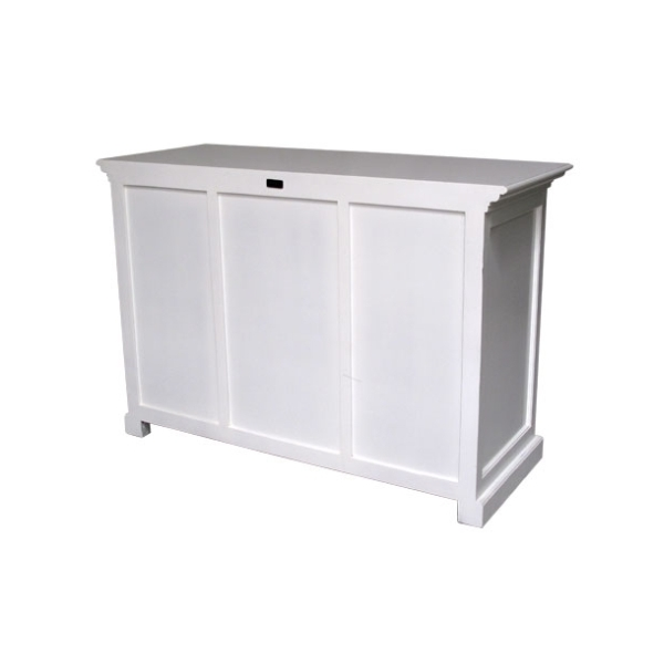 Nova white painted dining room furniture sideboard with for Sideboard rattan