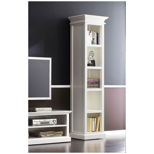 Details About Nova White Painted Furniture Tall Narrow Bookcase