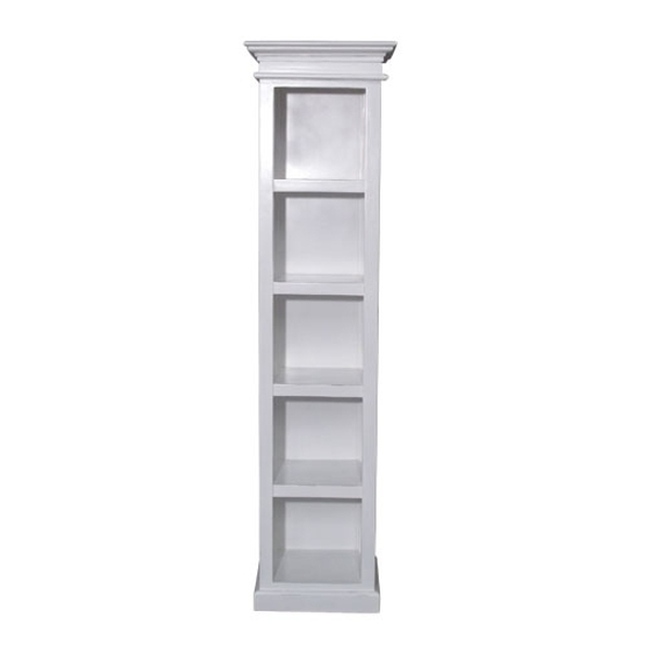 Nova White Painted Furniture Tall Narrow Bookcase