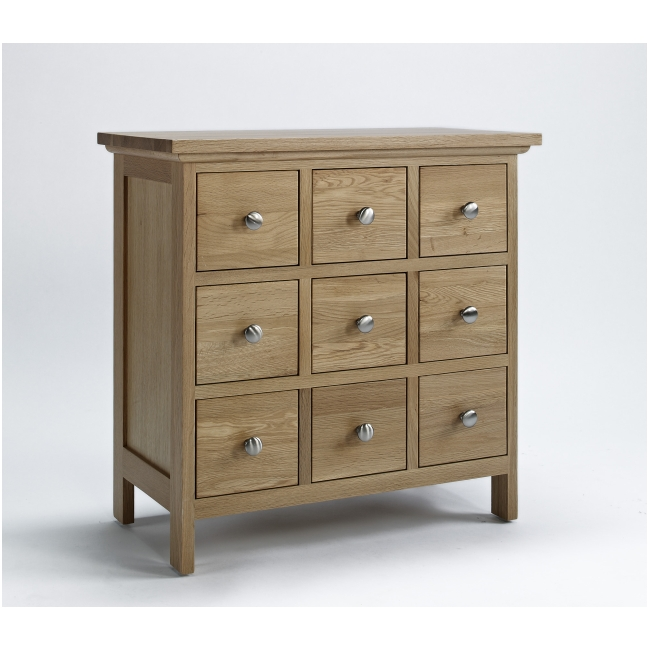 Mayfair Solid Oak Furniture Cd Dvd Storage Cabinet Drawers Ebay
