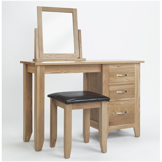 oak bedroom furniture dressing table mirror and stool set ebay