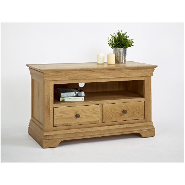 Calais Solid Oak Living Room Furniture Small Television