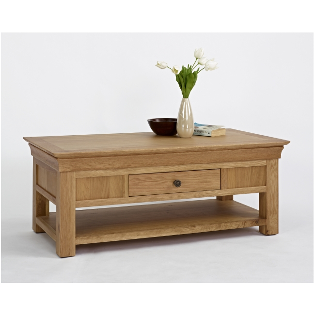 Calais Solid Oak Living Room Furniture Storage Coffee Table With Drawer Ebay