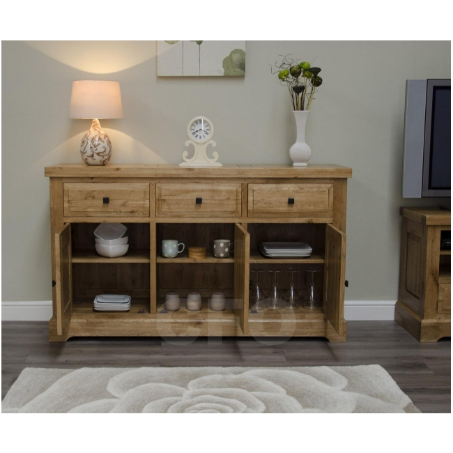 claridge solid oak furniture large living dining room sideboard ebay