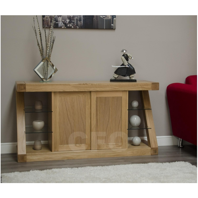 Zouk solid oak designer furniture large sideboard living ...