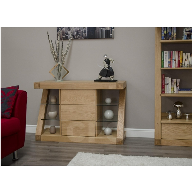 solid oak designer furniture small sideboard living dining room ebay