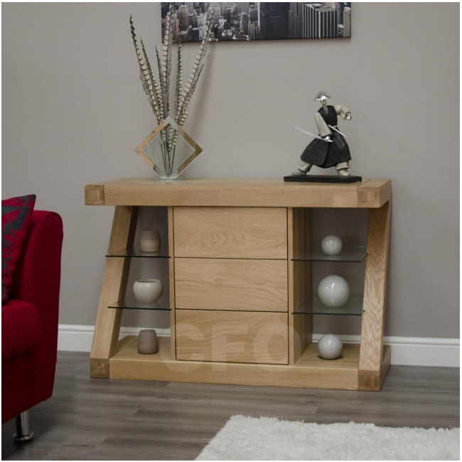 Zouk Solid Oak Designer Furniture Small Sideboard Living Dining Room Ebay