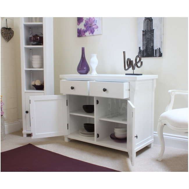 Hampton Small Sideboard White Painted Living Dining Room Solid Furniture EBay
