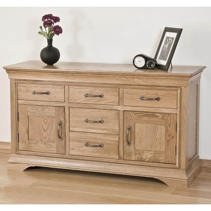 solid french oak furniture storage living dining room sideboard ebay