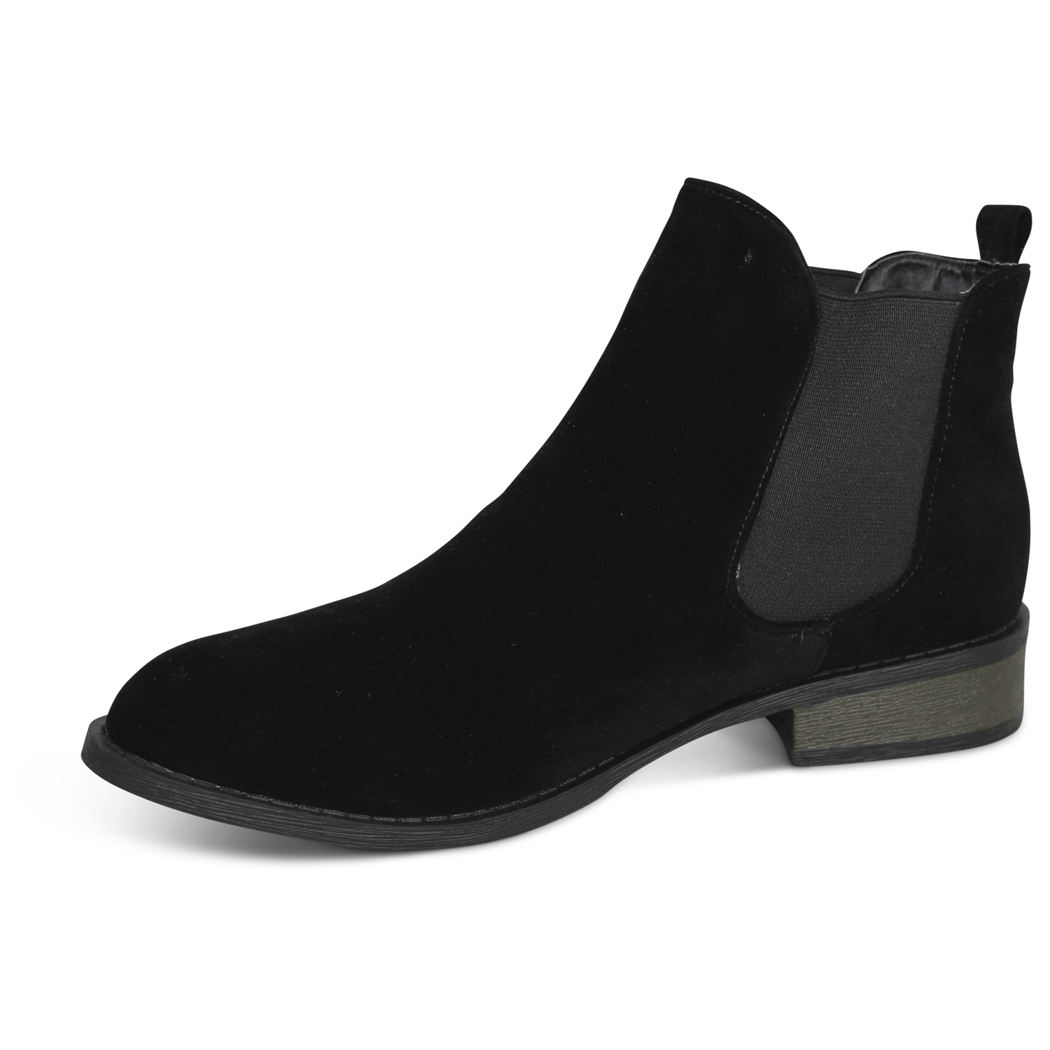 Beautiful Serfan Chelsea Boot Women Suede Grey Brown