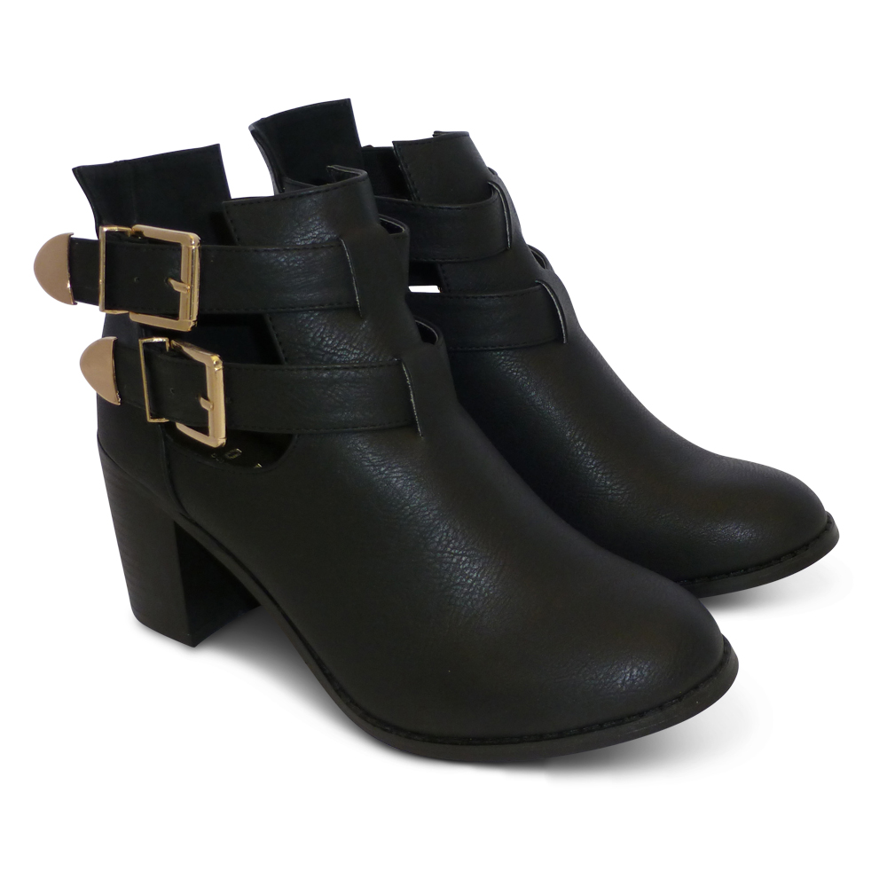 Original Details About Journee Collection Womens Buckle Ankle Boots