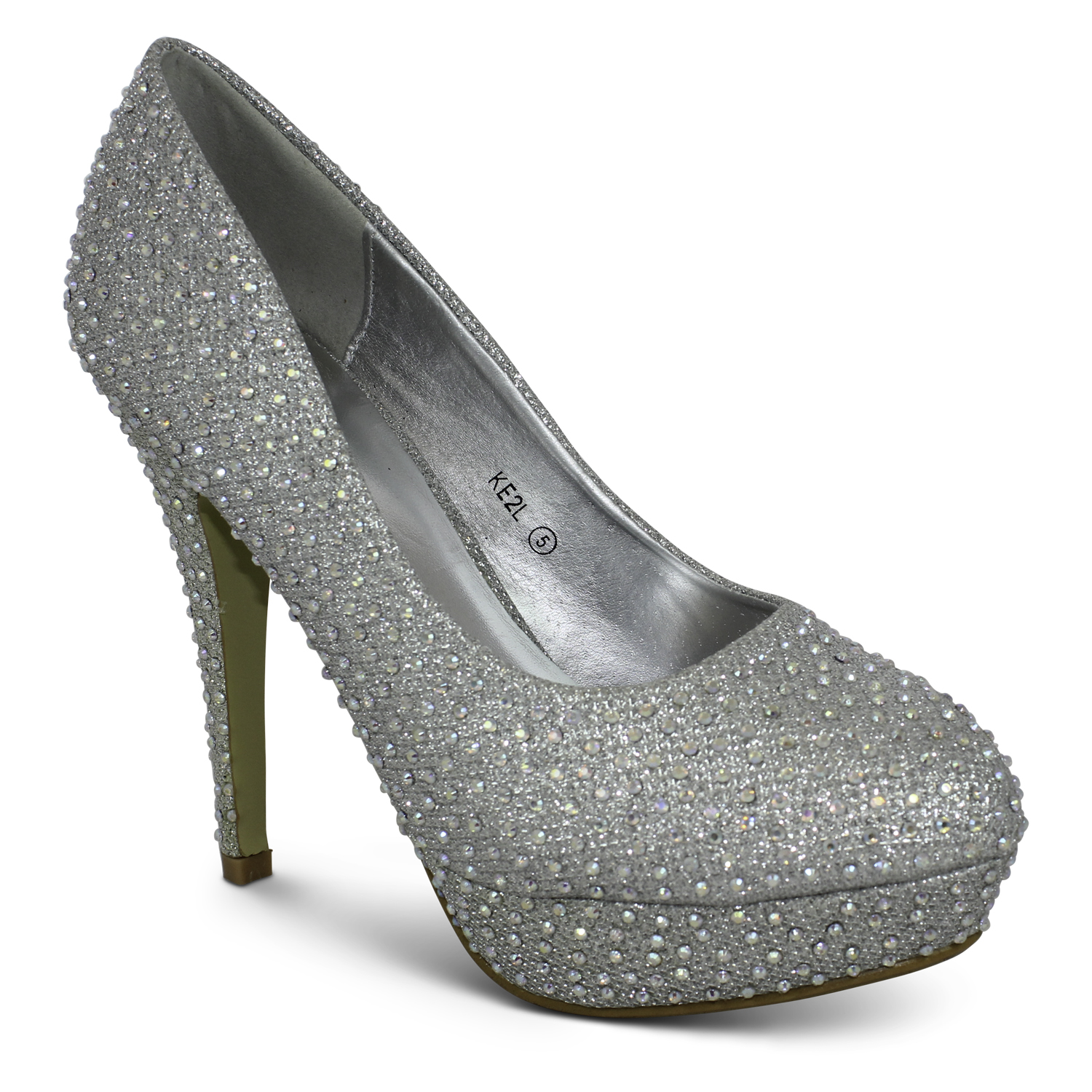 womens new stiletto high heel sequin prom