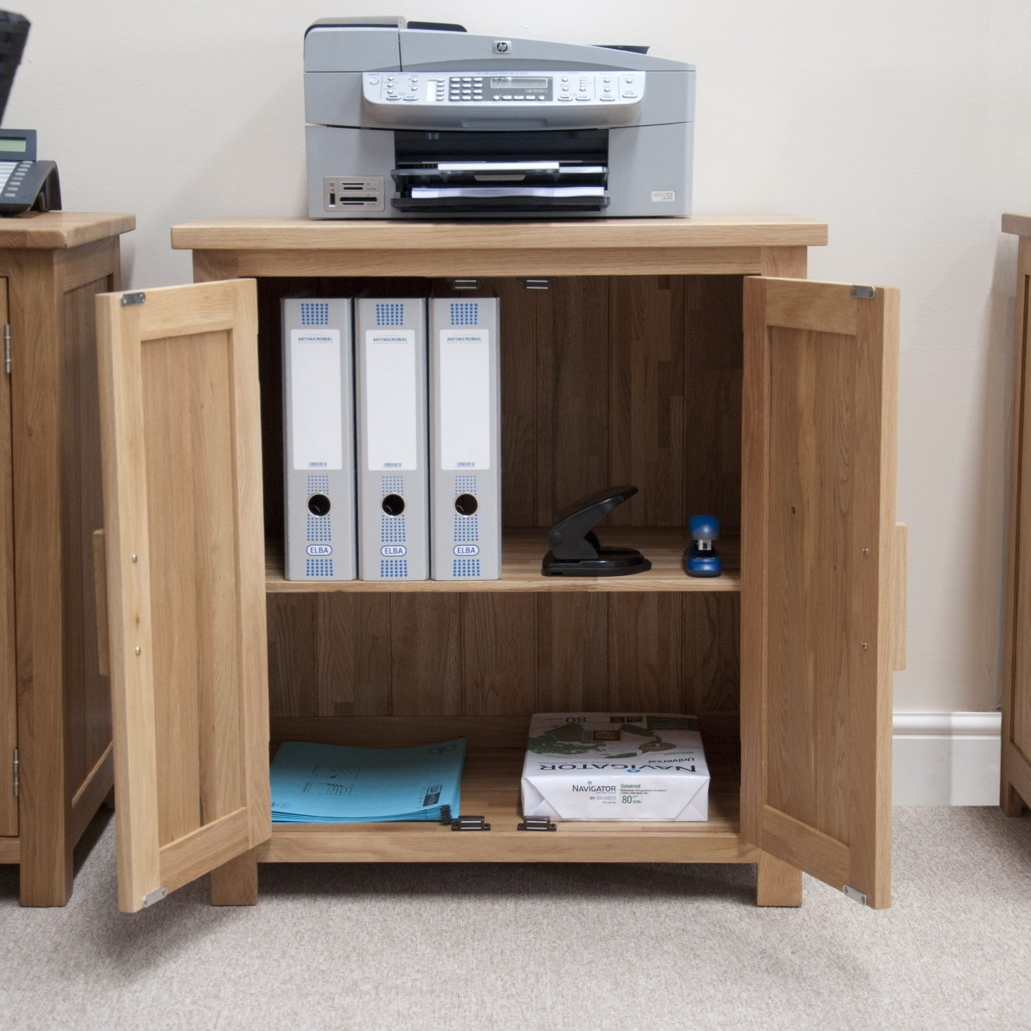 Eton Solid Oak Modern Furniture Home Office Printer