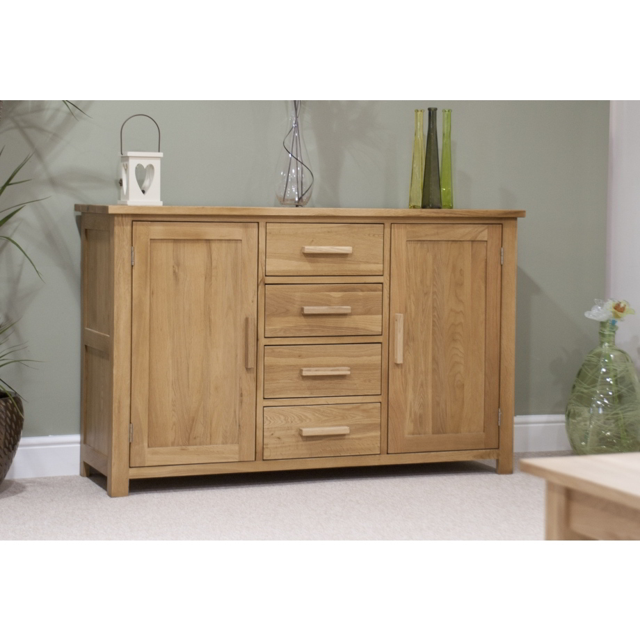 Eton Solid Oak Living Dining Room Furniture Large Storage Sideboard